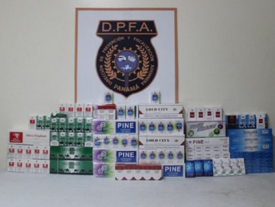 Decomisan más de mil 160 unidades de cigarrillos y potenciadores sexuales