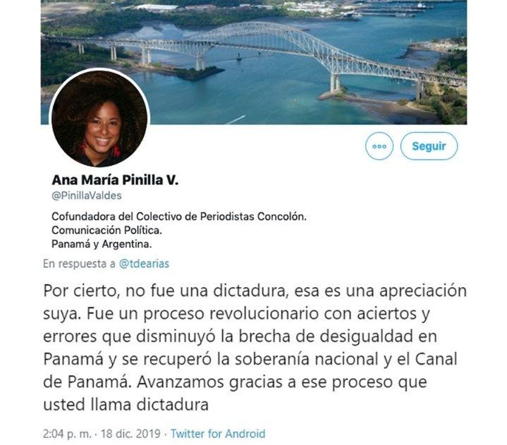 Periodista en planilla del Ministerio de la Presidencia dice que en Panamá no hubo dictadura