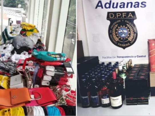 Aduanas retiene cigarrillos, licor y ropa de presunto contrabando en Bocas