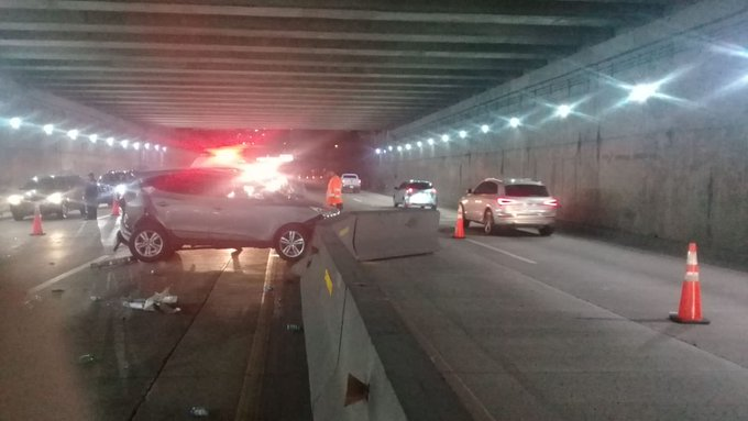 ENA habilita un solo carril en túnel del Corredor Sur tras colisión múltiple