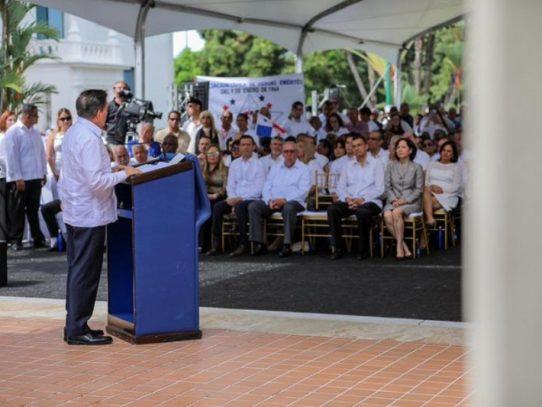 Cortizo pide a la juventud que luche contra la corrupción y la pobreza
