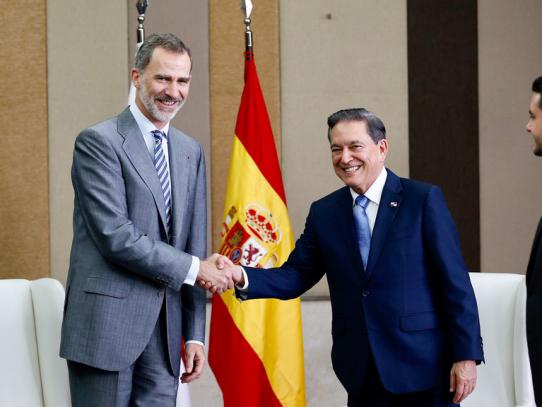Rey de España expresa su apoyo al presidente electo Laurentino Cortizo