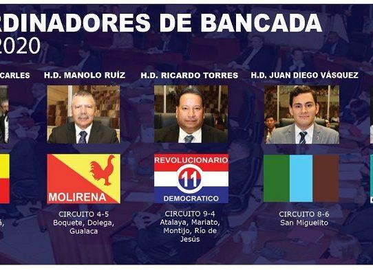 Asamblea publica nombres de los jefes de las cinco bancadas