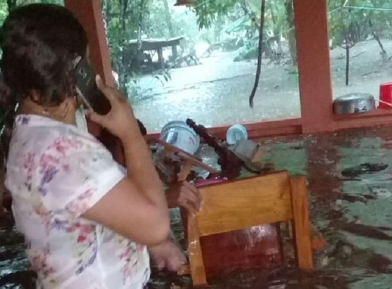 Al menos 30 viviendas afectadas por inundaciones en Chilibre