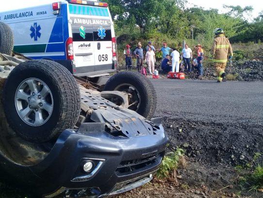 Siete heridos por accidente vehicular en Cañazas