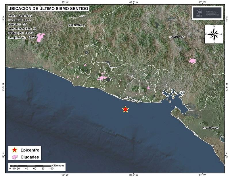 Fuerte temblor sacude territorio salvadoreño sin dejar víctimas