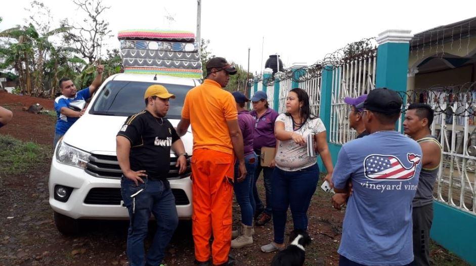 Sinaproc y MIVI entregan ayuda humanitaria a afectados por lluvias en el Oeste