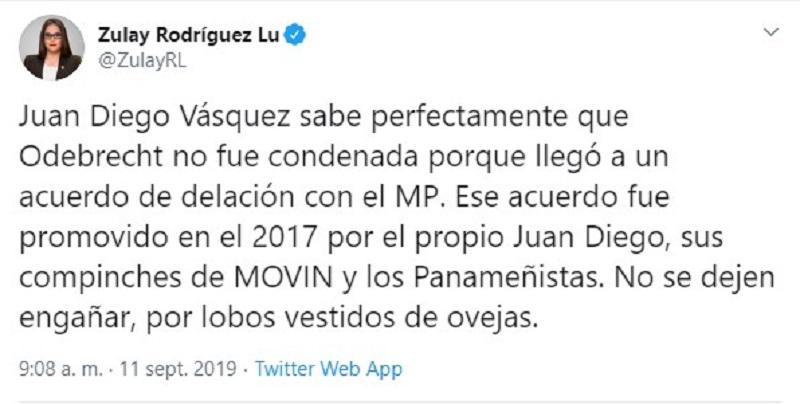 Diputada Rodríguez: propuesta de Vásquez asegura impunidad a Odebrecht