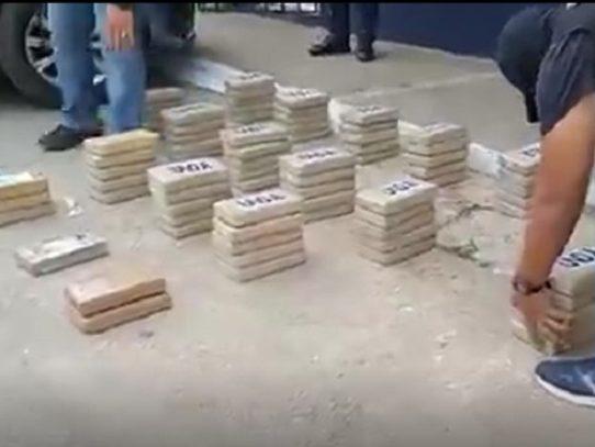 Decomisan 81 paquetes con droga en Coclé