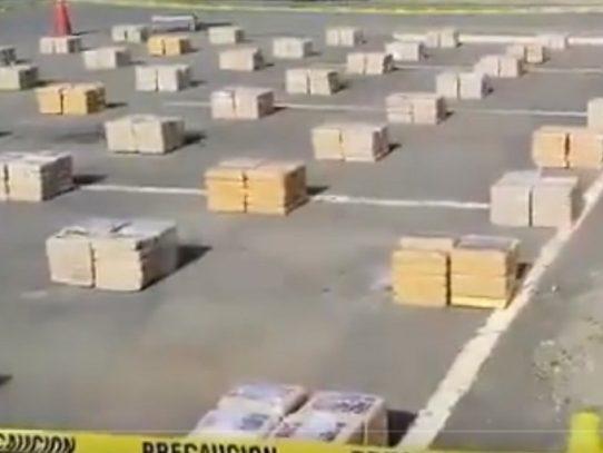 Decomisan 1,098 paquetes de droga en Los Santos