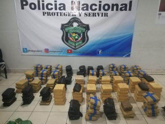 PN encontró 227 paquetes de cocaína en medio de matorral en Pedasí