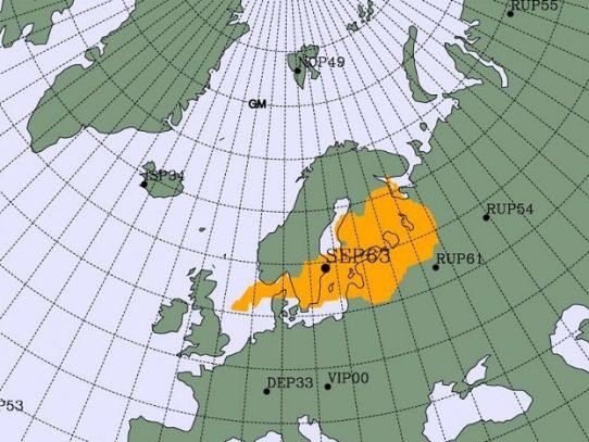 Pequeña subida de niveles de radioactividad de origen humano en el norte de Europa