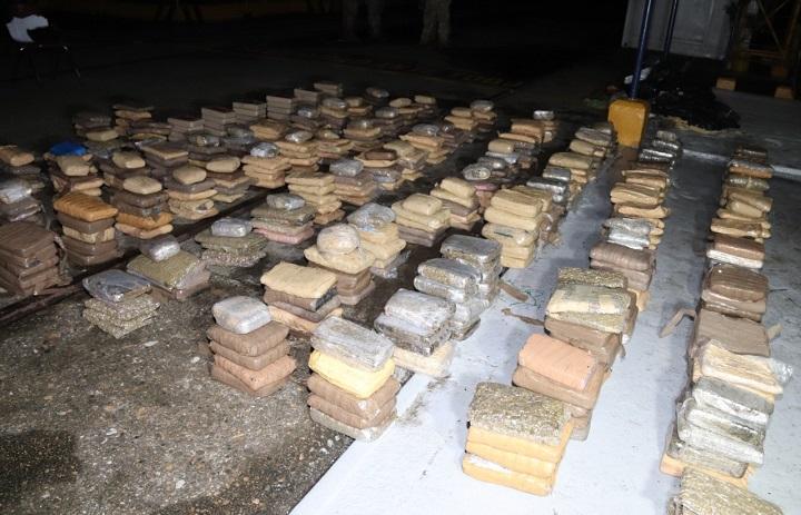 Decomisan 492 paquetes con droga en el archipiélago de Las Perlas
