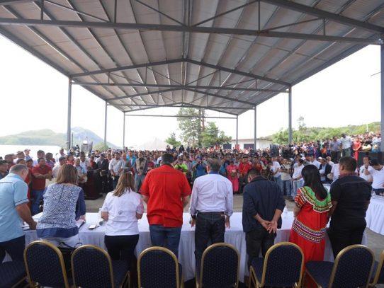 Presidente Cortizo y su Gabinete, realizan gira de trabajo en Llano Tugrí