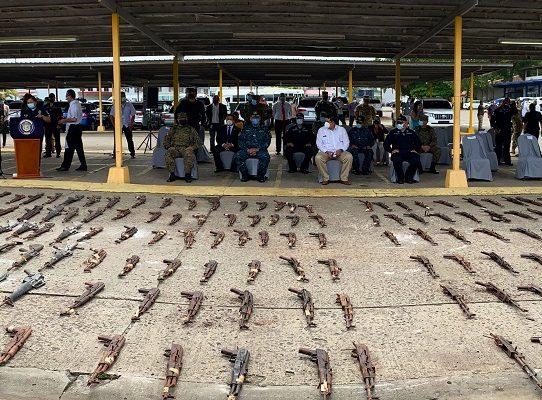 En lo que va del año se han destruido 2,642 armas de fuego decomisadas