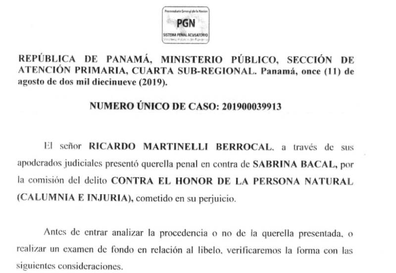 Admiten querella penal de Martinelli contra directora de TVN Noticias