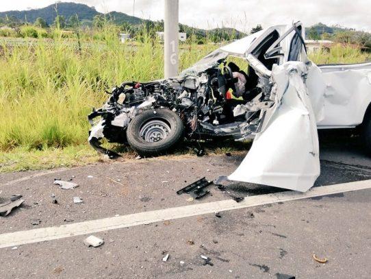 Tres heridos en aparatoso accidente en Chiriquí