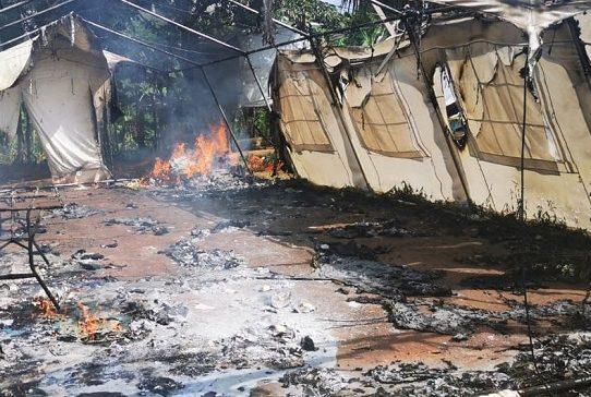 Inmigrantes vinculados a incendio de campamento de estamentos de seguridad en Darién