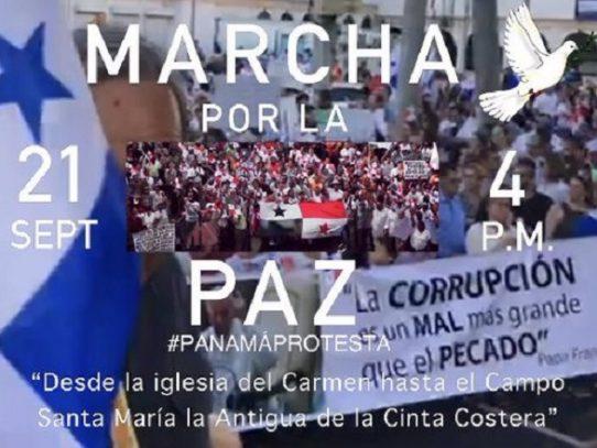 Convocan a marcha por la paz para este 21 de septiembre
