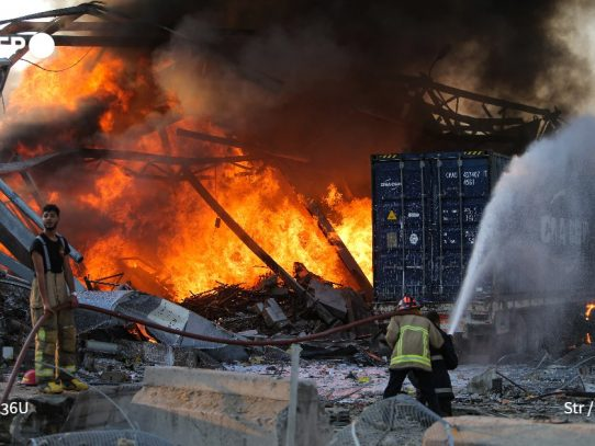 2.750 toneladas de nitrato de amonio causaron explosiones en puerto de Beirut