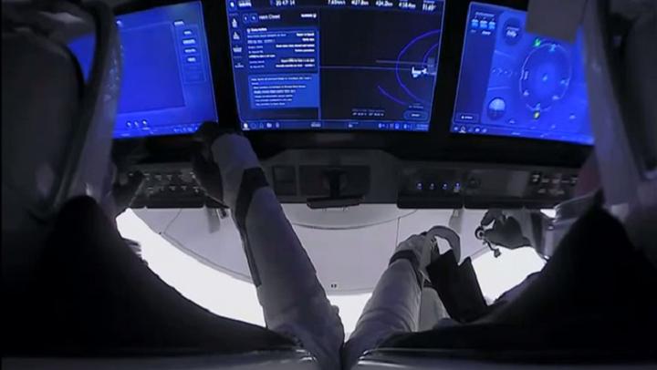 Astronautas de EE.UU. listos para regresar a la Tierra a bordo de la cápsula de SpaceX