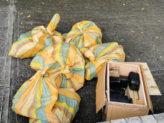 Policía decomisa siete sacos con presunta droga en Amador