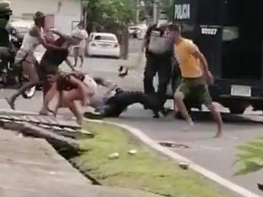 Involucrados en incidente con la policía son remitidos a las autoridades competentes