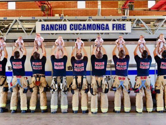 Nueve bomberos de un mismo departamento tuvieron bebés al mismo tiempo