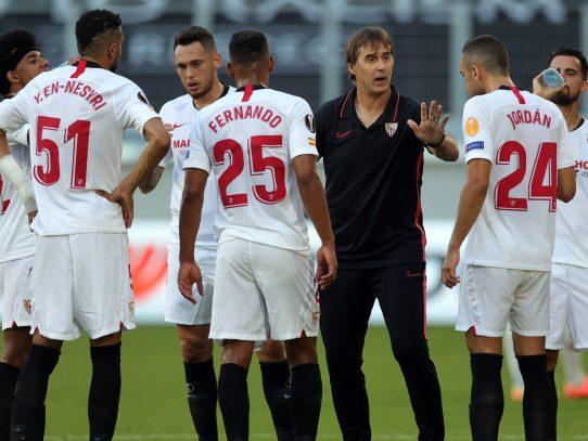El Sevilla busca alegría en la Champions