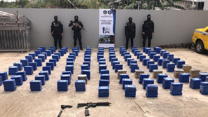 Decomisan 634 paquetes de presunta droga en Pacora
