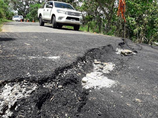 Cierran la vía Paso Canoa Río Sereno tras colapso de la vía