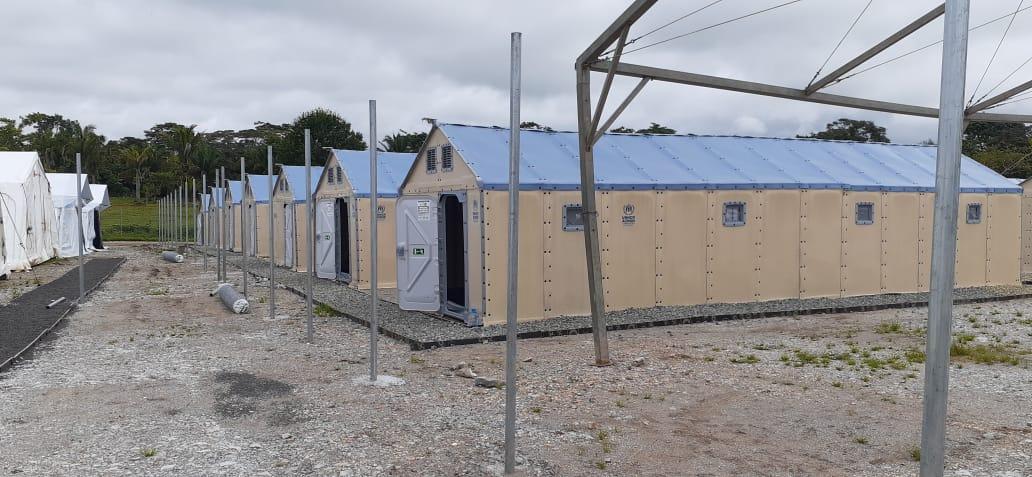 Construcción de nueva estación para migrantes en Darién alcanza un 90% de avance