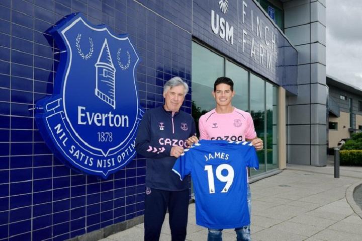James Rodríguez quiere acabar con la sequía de títulos del Everton