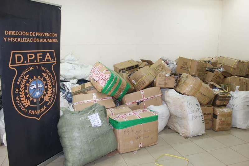 Incautan mercancía de presunto contrabando tras operativo en La Chorrera