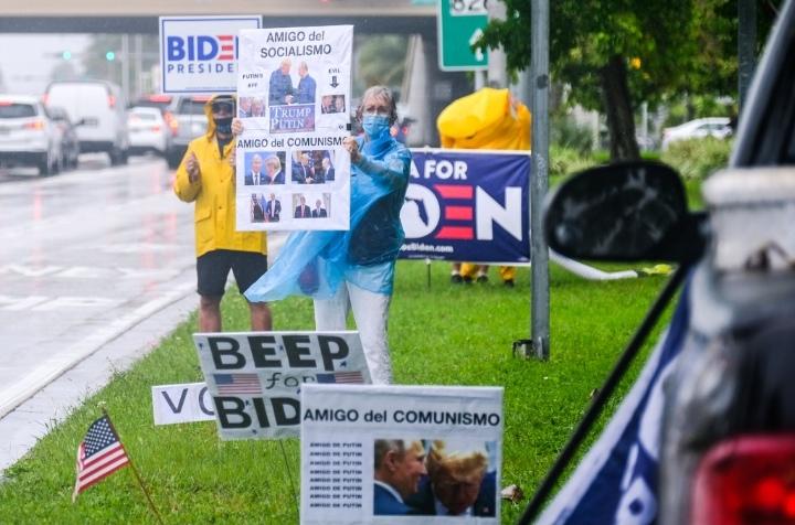 Trump y Biden se esfuerzan para ganar el voto latino en Florida