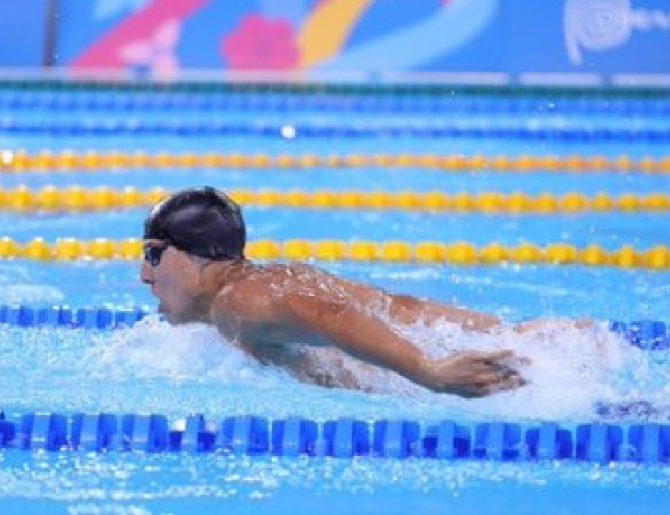 Nadador panameño Tyler Christianson clasifica a la final de los 200mts combinados