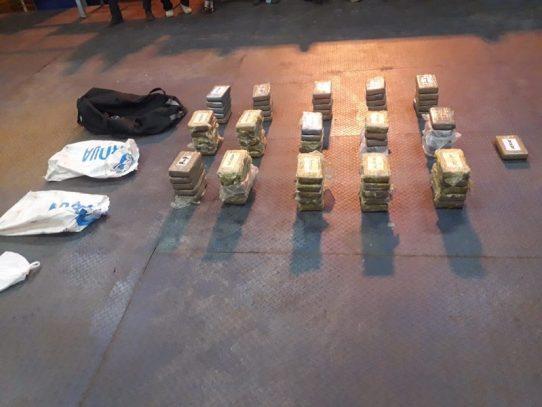 Decomisan 76 paquetes con sustancia ilícita en el puerto de Balboa