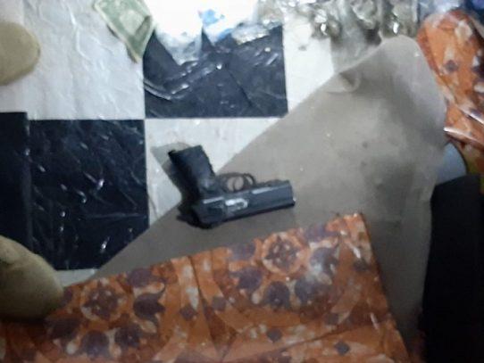 Decomisan droga, arma de fuego y hay un aprehendido en La Chorrera