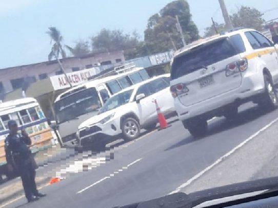 Víctima fatal por atropello en Chame
