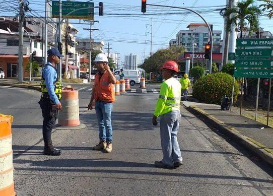 Inician trabajos en la avenida Santa Elena por Saneamiento de Panamá