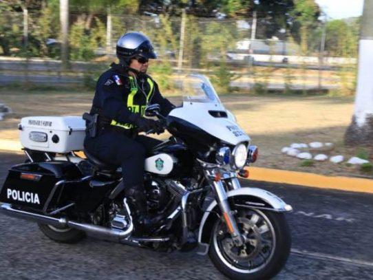 Operativo de Carnaval: Director de la Policía recorre en moto la Interamenricana