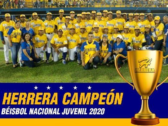 Herrera se corona campeón en el béisbol juvenil