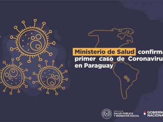 Ministro de Salud confirma primer caso del nuevo coronavirus en Paraguay