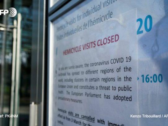 Primer caso de coronavirus en las instituciones europeas en Bruselas