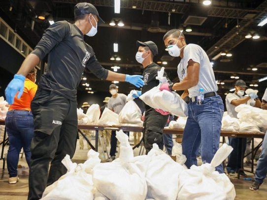 Se realiza la primera entrega de bolsas de comida del plan Panamá Solidario