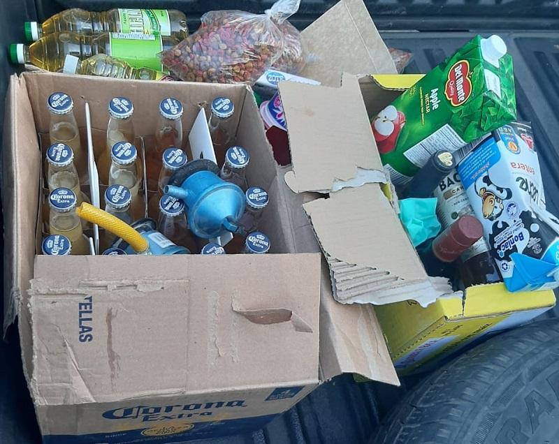 Tras allanamientos en Alcalde Díaz, recuperan alimentos hurtados