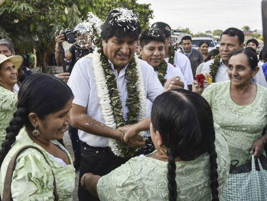 Evo Morales con ventaja de votos para la presidencia de Bolivia