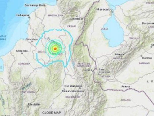 Sismo de magnitud 5,7 sacude el norte de Colombia