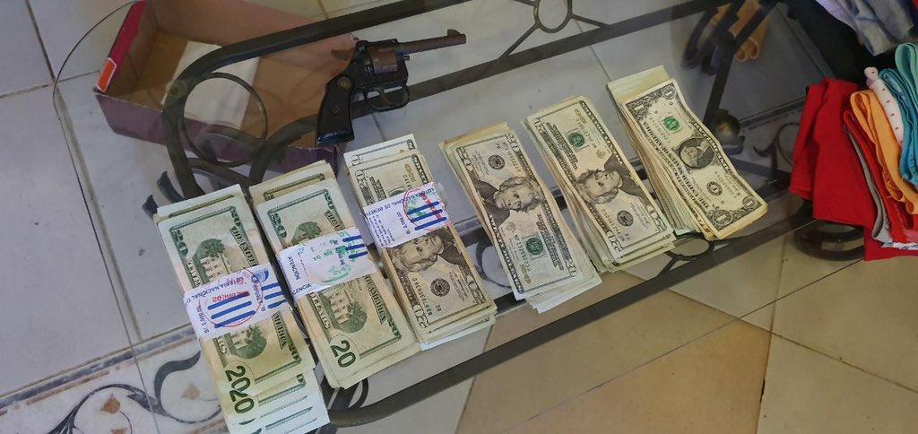 Incautan dinero, armas y celulares en San Miguelito