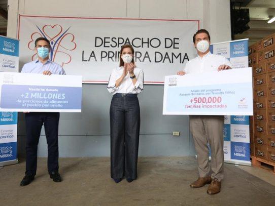 Panamá Solidario: Por Nuestra Niñez, recibe primera gran donación de víveres